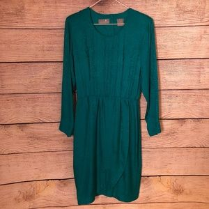 Vintage Silk Liz Claiborne Green Dress